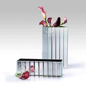 Florero de vidrio con espejo para guardar MESA DE BODA florero de flores secas Cubo de espejo para el hogar Decoración tradicional del Festival de Navidad