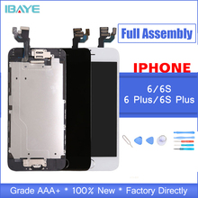 Get more info on the For iPhone 6p 6 6s plus LCD Full set Assembly Complete Touch For iPhone 6S lcd Screen replacement Display Camera + home butt