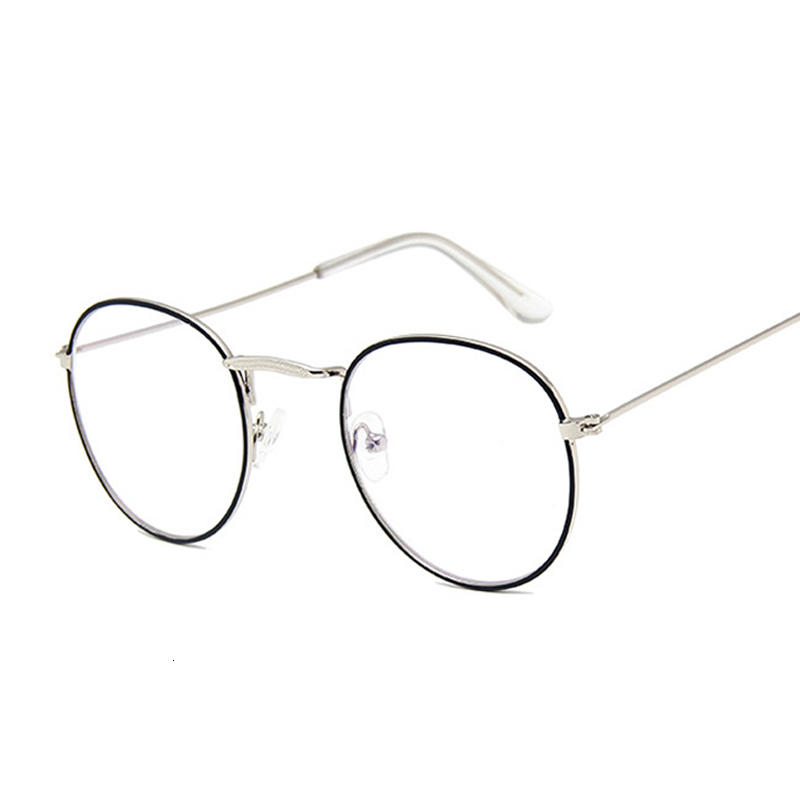 Round Rays Transparent Glasses Frames Men Women Fake Glasses Vintage Optical Myopia Eyeglasses Frames Ladies Retro Eyewear