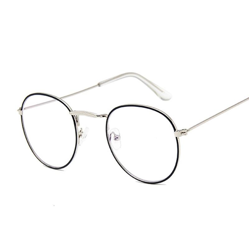 Round Rays Transparent Glasses Frames Men Women Fake Glasses Vintage Optical Myopia Eyeglasses Frames Ladies Retro Eyewear