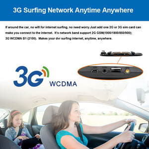 Image 3 - E ACE 3G Car Dvrs 7 Inch Touch Rearview Mirror Cameras Android 5.0 GPS Bluetooth Handfree WIFI FHD 1080P 16G Video Recorder