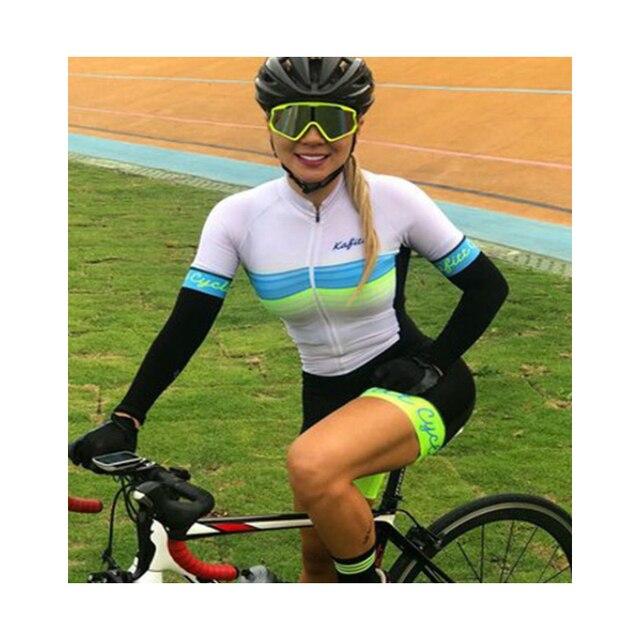 Cor fluorescente roupas femininas conjuntos de ciclismo triathlon terno manga curta skinssuit conjuntos maillot ropa ciclismo macacão macacão ciclismo feminino kafitt roupas femininas com frete gratis roupa de ciclismo 6