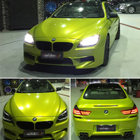 Gloss Metallic Candy Lemon Vinyl Wrap With Air Bubble Free Glossy Full Car Wrapping Foil Size:1.52*20M/Roll 5x65ft