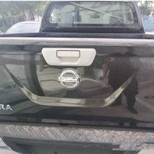 Pour Nissan NAVARA 2019 Chrome ABS voiture coffre arrière poignée bol cadre couverture garniture voiture style autocollant