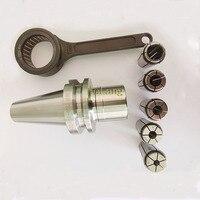 1 pçs alta precisão bt40 sk16 60 g2.5 25 000rpm pinça chuck bt40 sk16 suporte + 1 pçs sk16 chave inglesa + 5 peças pinças (6 8 10 12 16mm)