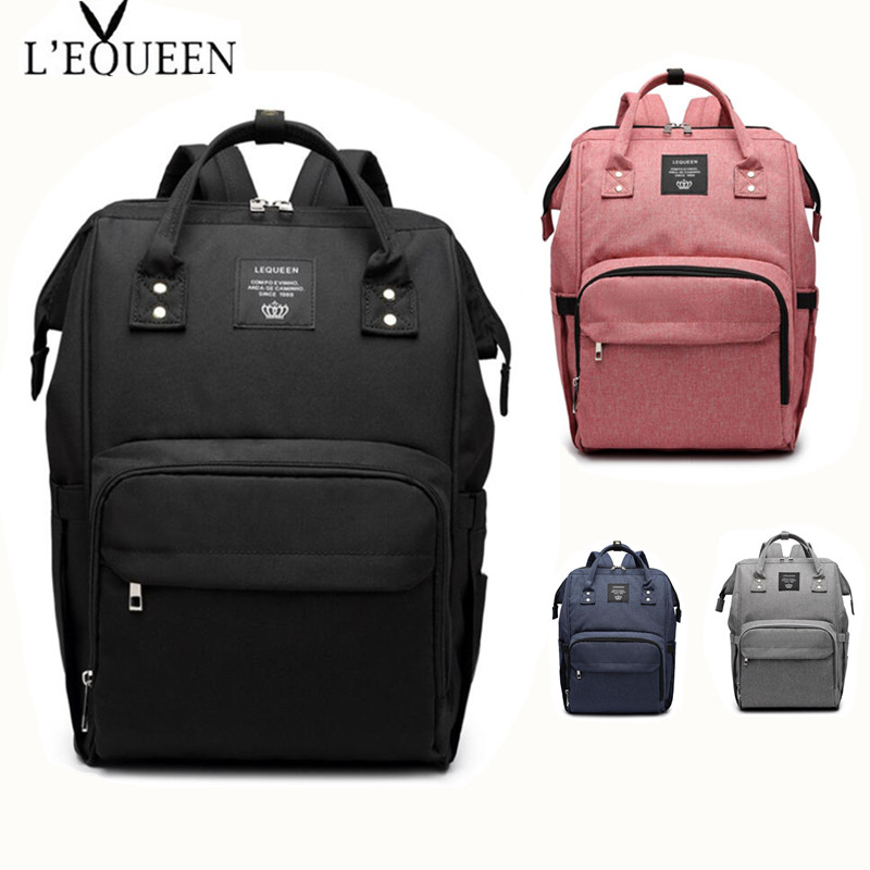 LEQUEEN Diaper Bag Baby Care For Daddy Mummy Nursing Bag Large Storage Travel Backpack Stroller Bag Nappy Bag