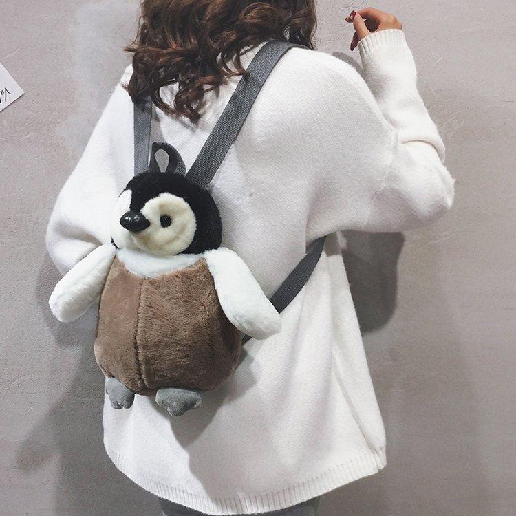Penguin Zipper Charm Penguin Soft Plushie Back to School Gift Idea Crochet Penguin Key Chain Penguin Backpack Toy Cute Penguin Soft Toy