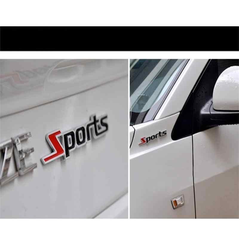 Stiker Mobil Olahraga Kata Huruf Desain 3D Chrome Logam Stiker Emblem Decal Stiker Mobil Lencana Decal Auto 104