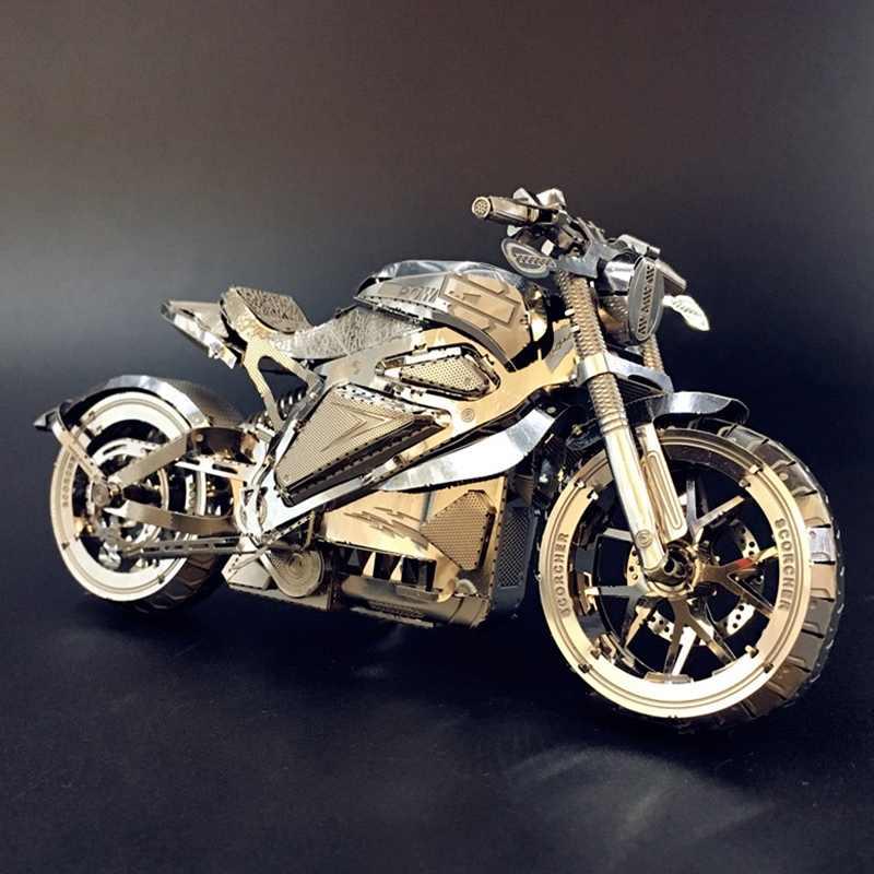 1:16 Model 3D Logam Puzzle Balas Dendam Motor Koleksi Puzzle DIY 3D Cut Model Mainan Puzzle untuk Orang Dewasa
