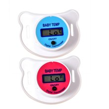 Baby Schnuller Thermometer Oral Thermometer Home Baby Schnuller Brust Milch Elektronische Thermometer Blau