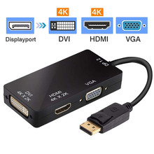 DisplayPort Adapter to HDMI 4K VGA DVI Male Female DP Converter for Computer Projector Multiport