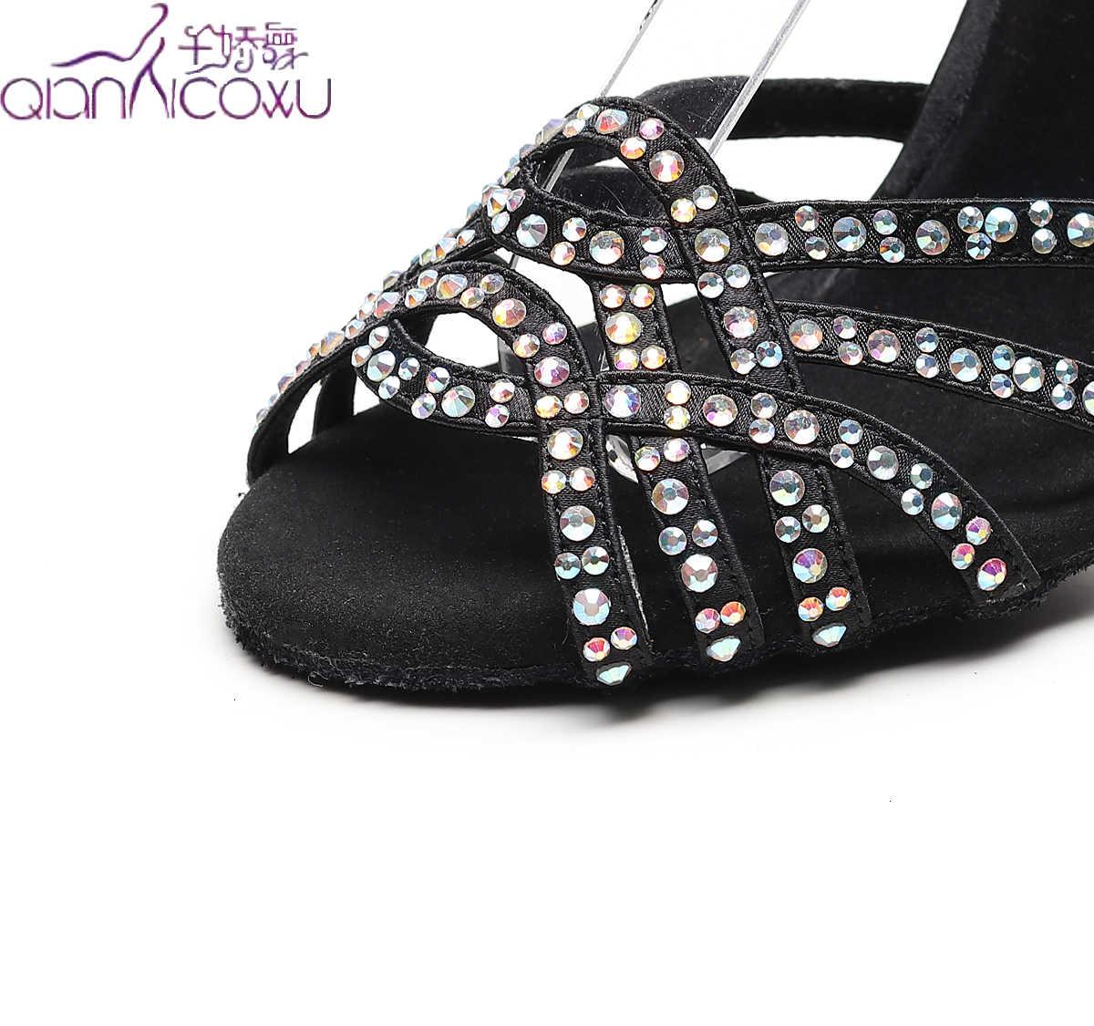 Özelleştirmek caz Salsa balo salonu Latin dans ayakkabıları dans kadın dansçılar musluk hattı Latina altın Glitter yaz sandalet 1044