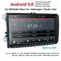 Ossuret 9 pollici Android 9.0 Doppio 2Din Auto radio GPS Auto radio 2 Din USB Per Volkswagen/Passat/ GOLF/Skoda/Seat Wifi bluetooth