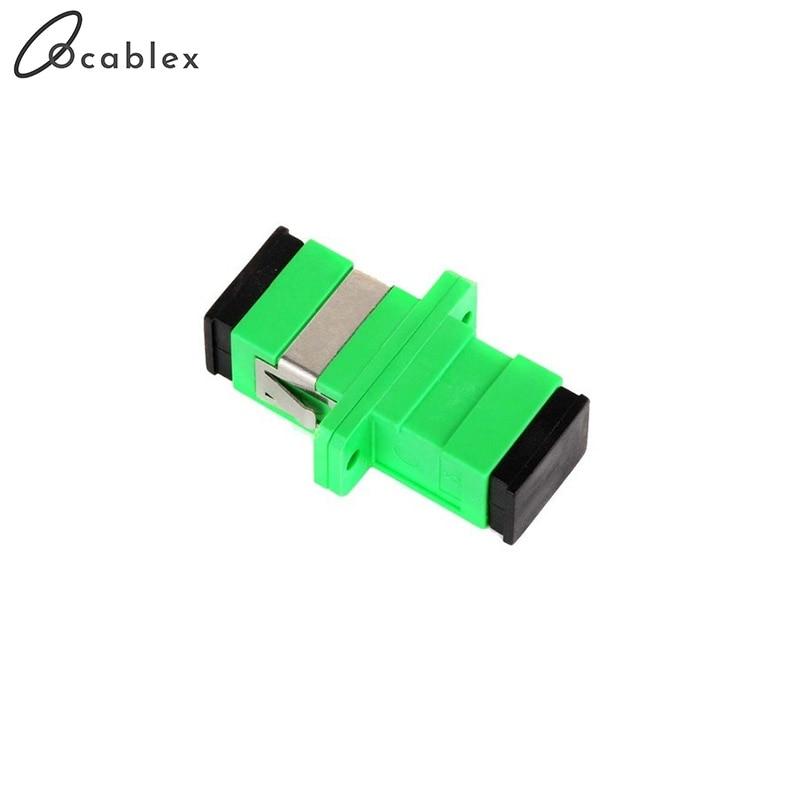 Livraison gratuite 300 pcs/Lot SC APC adaptateur connecteur connecteur Simplex mode unique en plastique SM Fiber optique adaptateur 0.3dB