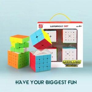 Image 4 - Mofangge 3*3*3 קסם קוביות מהירות מפואר קוביית קוביית סט 4pcs 3*3/4*4/5*5 מקצועי חידות קוביות למידה צעצועים לילדים