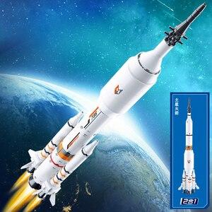 Image 5 - สถานีอวกาศจรวดLunar LanderยานอวกาศSpace Shuttleเรือตัวเลขอาคารอิฐบล็อกของเล่นสำหรับของขวัญเด็ก