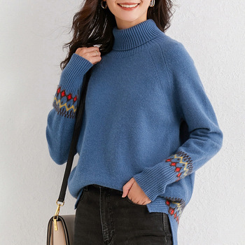 2020 autumn winter oversize turtlenect thick wool cashmere sweater pullovers women long sleeve female casual big sweater jumper thick warm women turtleneck 2020 winter women cashmere sweaters and pullovers knit long sleeve wool sweater female jumper