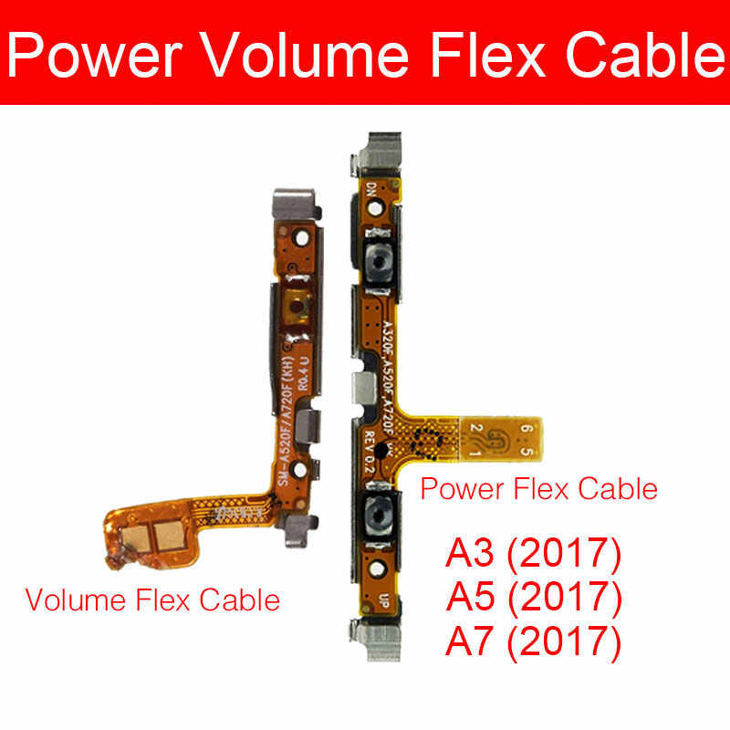 נפח & כוח Flex כבל לסמסונג גלקסי A3 A5 A7 2017 SM-A320F A520F A720F מתג על/כיבוי חשמל אודיו למטה ועד שליטה