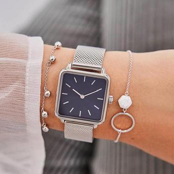 Mode Jurk Vrouwen Horloge Classic Eenvoudige Casual Merk Luxe Dame Vierkante Horloges Drop Shipping Relogio Feminino