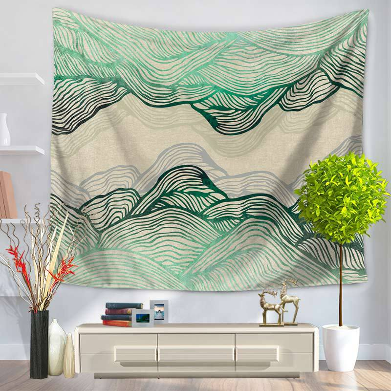 Colorful Pattern Tapestry Mountain Art Pattern Mandala Tapestry Wall Hanging Tenture Murale Blanket Wall Tapestry Toalla Playa image