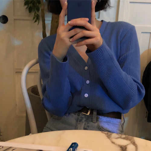 Осенний женский свитер с длинным рукавом, сексуальный, v-образный вырез, однобортный, корейский стиль, модная верхняя одежда, однотонный, Повседневный, женский, вязаный