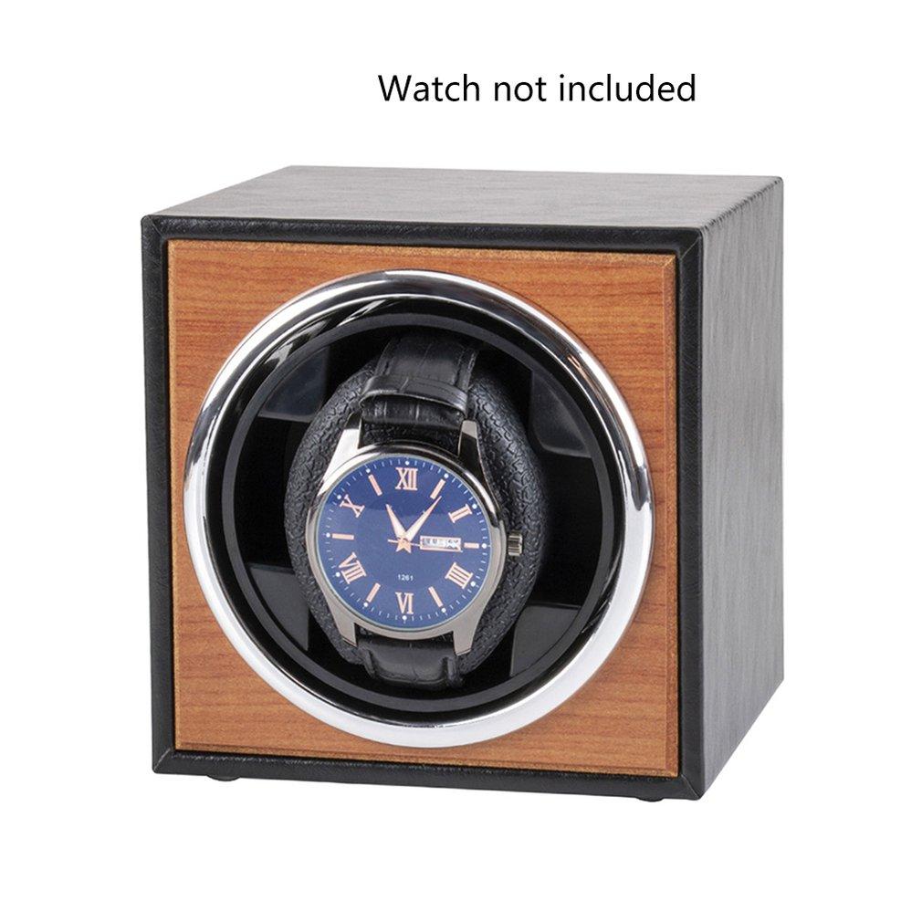 USB Power Supply Black Mechanical Watch Winding Box Case Motor Shaker Mini Watch Winder Holder Display Jewelry Storage Organizer