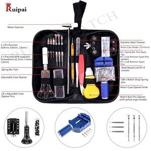 Image 3 - RUIPAI 147pcs Watch Repair tool Kit Watch Link Pin Remover Case Opener Spring Bar Remover Horlogemaker Gereedschap
