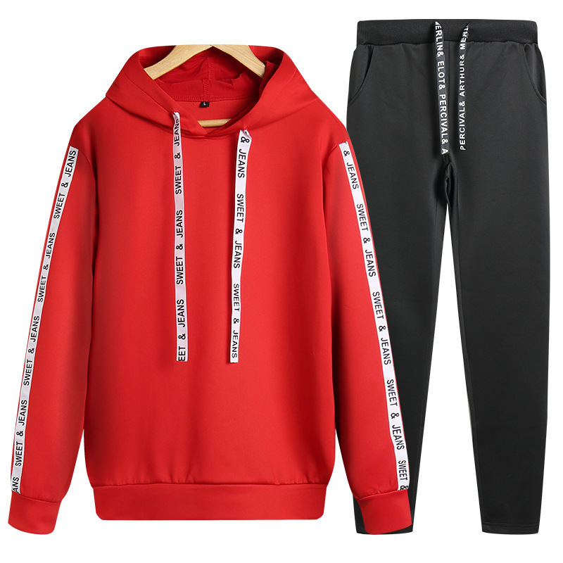 Autumn Men Hoodie Suit Korean-style Trend Teenager Students Sports Clothing Hooded Pullover Casual Two-Piece Set Men's