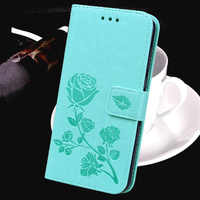 Rose Flower Coque Leather Case for Sony Xperia 10 Plus Z2 Z1 Compact Z3 Plus Mini Z4 Z5 Premium Mini Wallet Cover