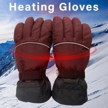 лучшая цена 1 Pair 4.5V Winter USB Hand Warmer Electric Thermal Gloves Waterproof Heated Gloves Battery Powered For Motorcycle Ski Gloves