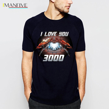 Tony Stark I Love You 3000 T-Shirt Men The Avengers Iron Man Moive Shirt 2019 New Summer Casual Plus Size Tops Tees S-3XL t shirt chicco size 086 flower i love you pink