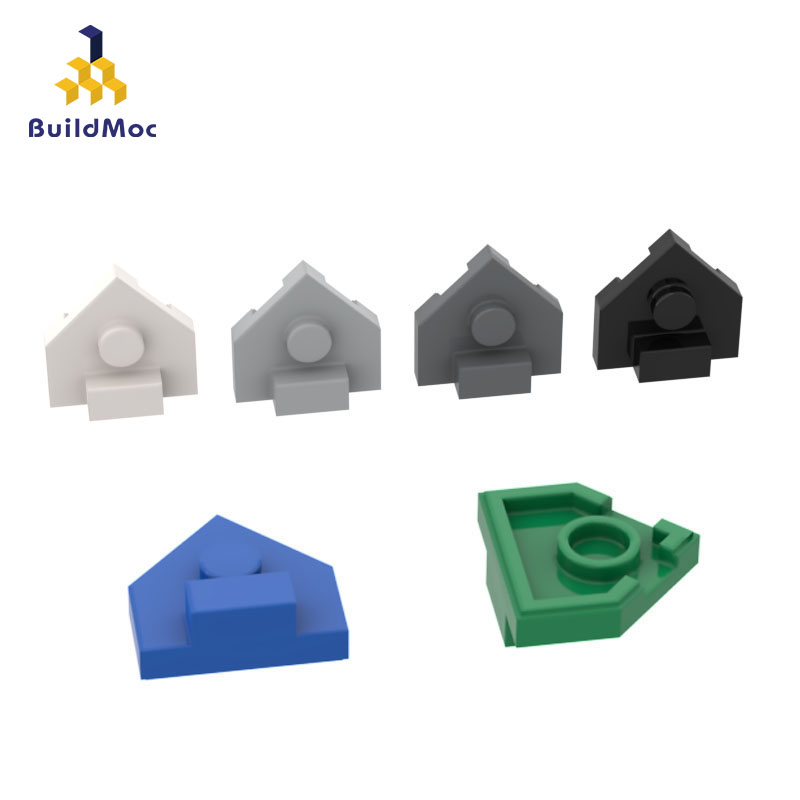 BuildMOC Assembles Particles 27928 2x2 Shield-shaped Special Boar Building Blocks Parts DIY LOGO Educational Gift Toys