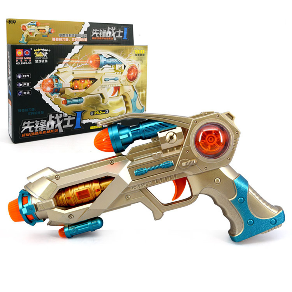 Children's Toy Vibration Electric Gun Pistol Role-playing Military Model Parent-child Interactive Communication Toy 999