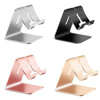 Universal Aluminium Alloy Smart Phone Stand Desk Holder Charge Stand Cradle Mount For iPhone Metal Tablets Stand For ipad Tablet Tablet Stands     -