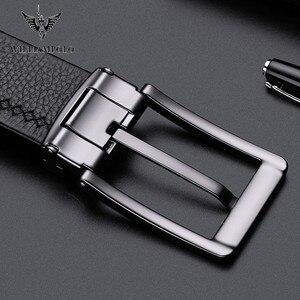 Image 4 - Williampolo cinturón informal de cuero de grano completo para hombre, Cinturón de piel, plateado, Pin, cinturón con hebilla