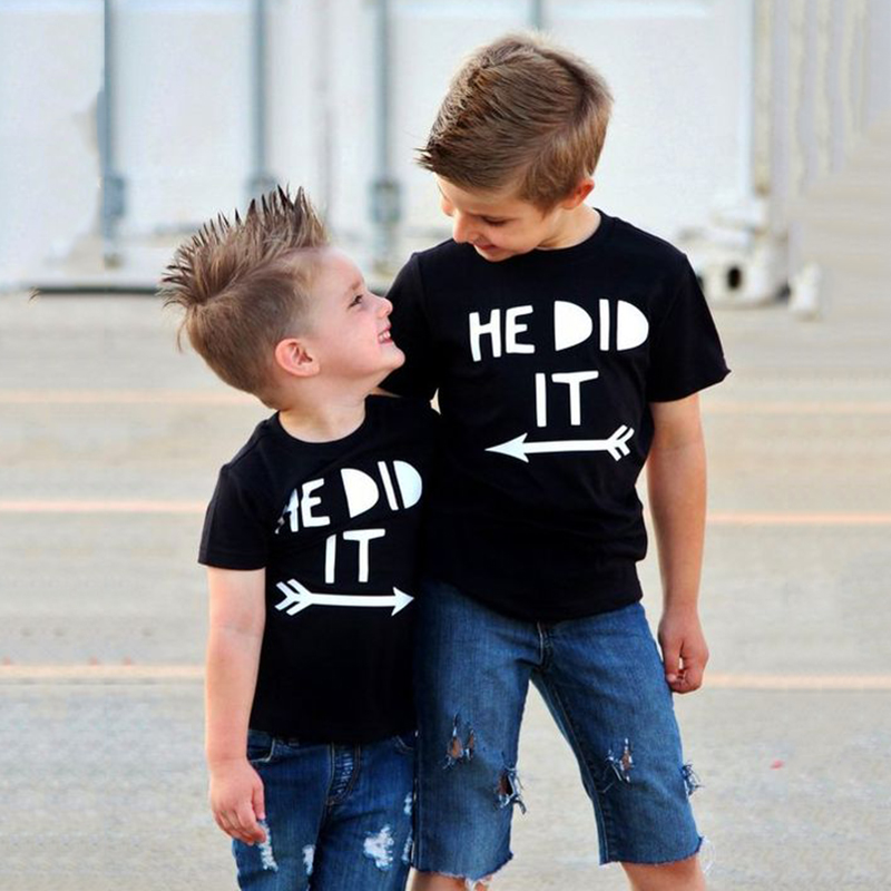 He Did It Funny <font><b>Kids</b></font> Tshirt Toddler Boys Siblings Brothers Family Matching T-<font><b>shirt</b></font> <font><b>Best</b></font> <font><b>Friends</b></font> Fashion Boy T <font><b>Shirt</b></font> Tops Outfit image