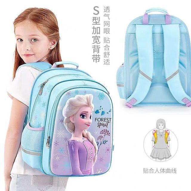 HOT Genuine Disney Frozen 2 Elsa olaf 42CM Shcool Bag EVA Backpack Girls Children bags for age 6-12Y Knapsack Bag Birthday Gift