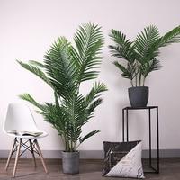 Areca palm grande norte europeu estilo planta artificial piso feng wei kui bonsai decoração interior falso vaso planta verde ve|  -