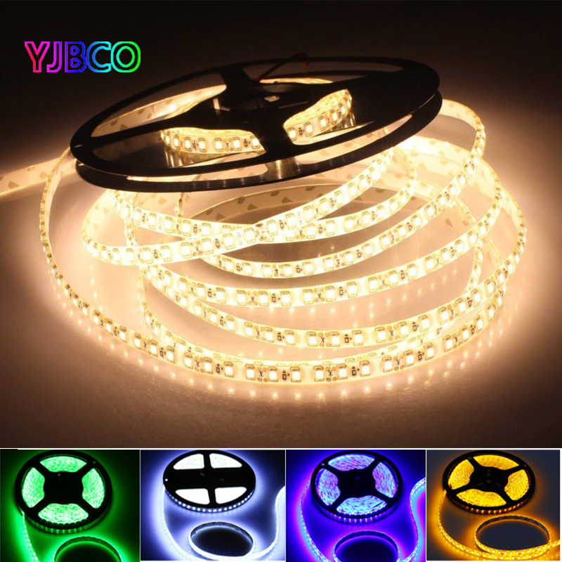 5m DC12V 600leds 120leds/m White/warm White/blue/green/red/yellow SMD 3528 Flexible LED Strip Tape Light