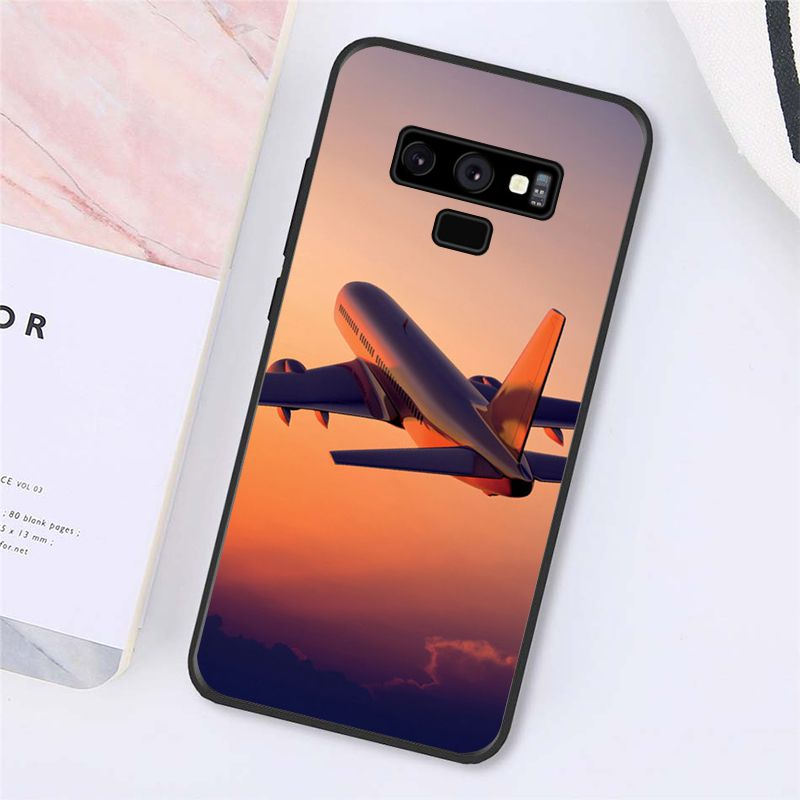 Aircraft Airplane Fly Travel Cloud Plane Phone Case For Samsung Galaxy A50 A70 A20 A30 Note9 8 Note7 Note10 Pro