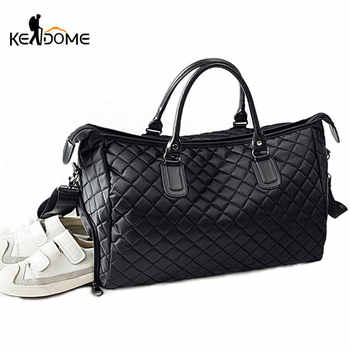 Diamond Lattice Gym Shoe Bags Sport Bag for Women Fitness Over the Shoulder Travel Luggage Bag Handbags Male Nylon Black XA745WD - DISCOUNT ITEM  40% OFF All Category