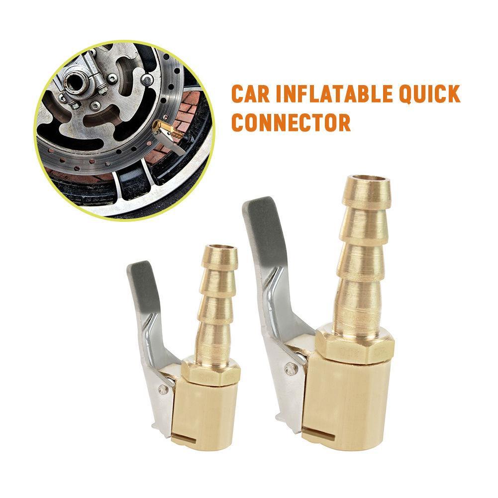 Car Inflatable Quick Connector Thread Nozzle Adapter Car Pump Accessories Clip