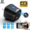 Микро-камера видеонаблюдения с Wi-Fi, ночным видением, датчиком движения, 166 градусов, 4K HD, Wi-Fi