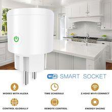Розетка с Wi Fi для ЕС, выключатель с таймером для смартфона, дистанционное управление для Alexa, google home, IFTTT, AI динамика