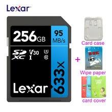 633x sdxc original lexar sd cards UHS-I cartão sd 512gb 256gb 3d 4k vídeo de alta velocidade capacidade sdhc 95 mb/s cartão de memória para câmera