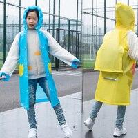 Eva 환경 보호 소재 어린이 비 재킷 풍선 후드 핑크 블루 옐로우 방수 하이킹 긴 판쵸
