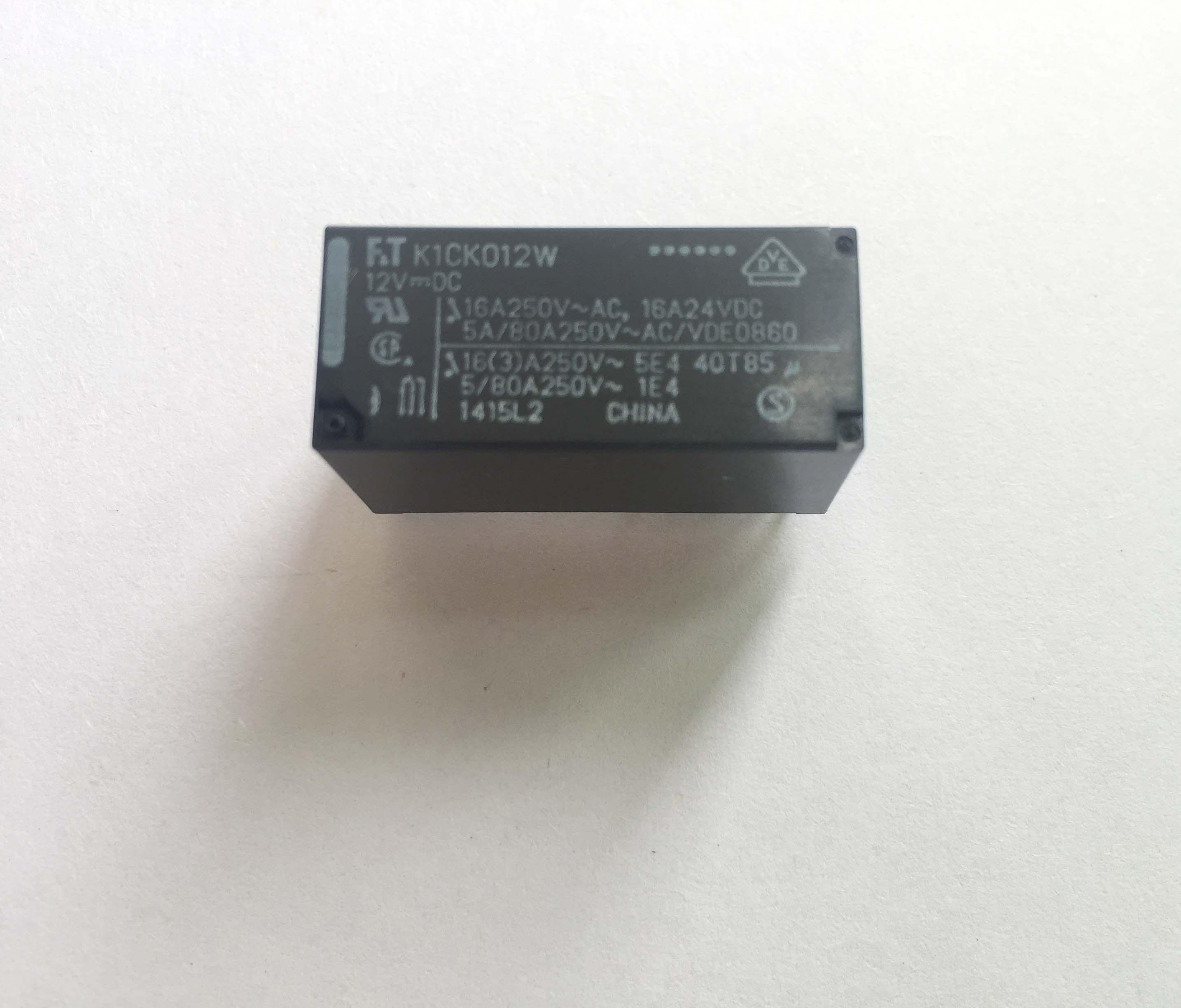 FTR-K1CK012W K1CK012W Power Relay 16A 12VDC 8 Pins x 2PCS NEW