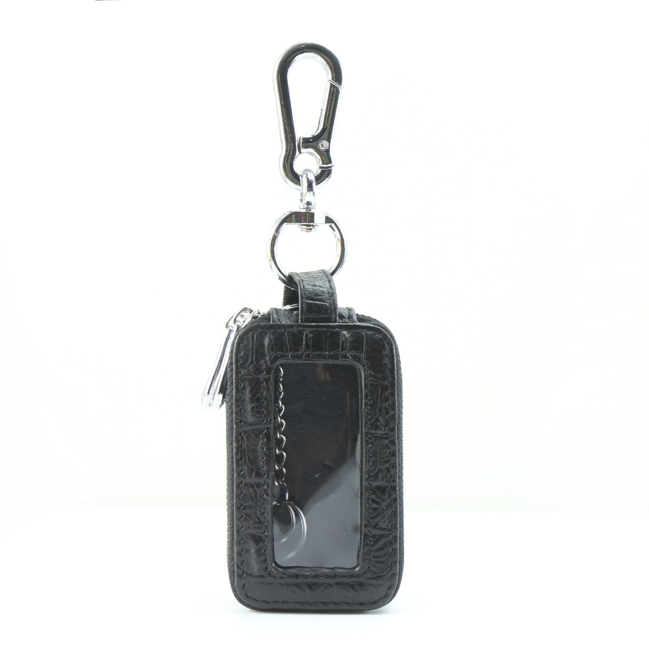 Fashion Crocodile Pattern Key Bag Leather Men and Women Wallet Car Key Bag Key Ring Large Capacity Storage Bag Small Wallet
