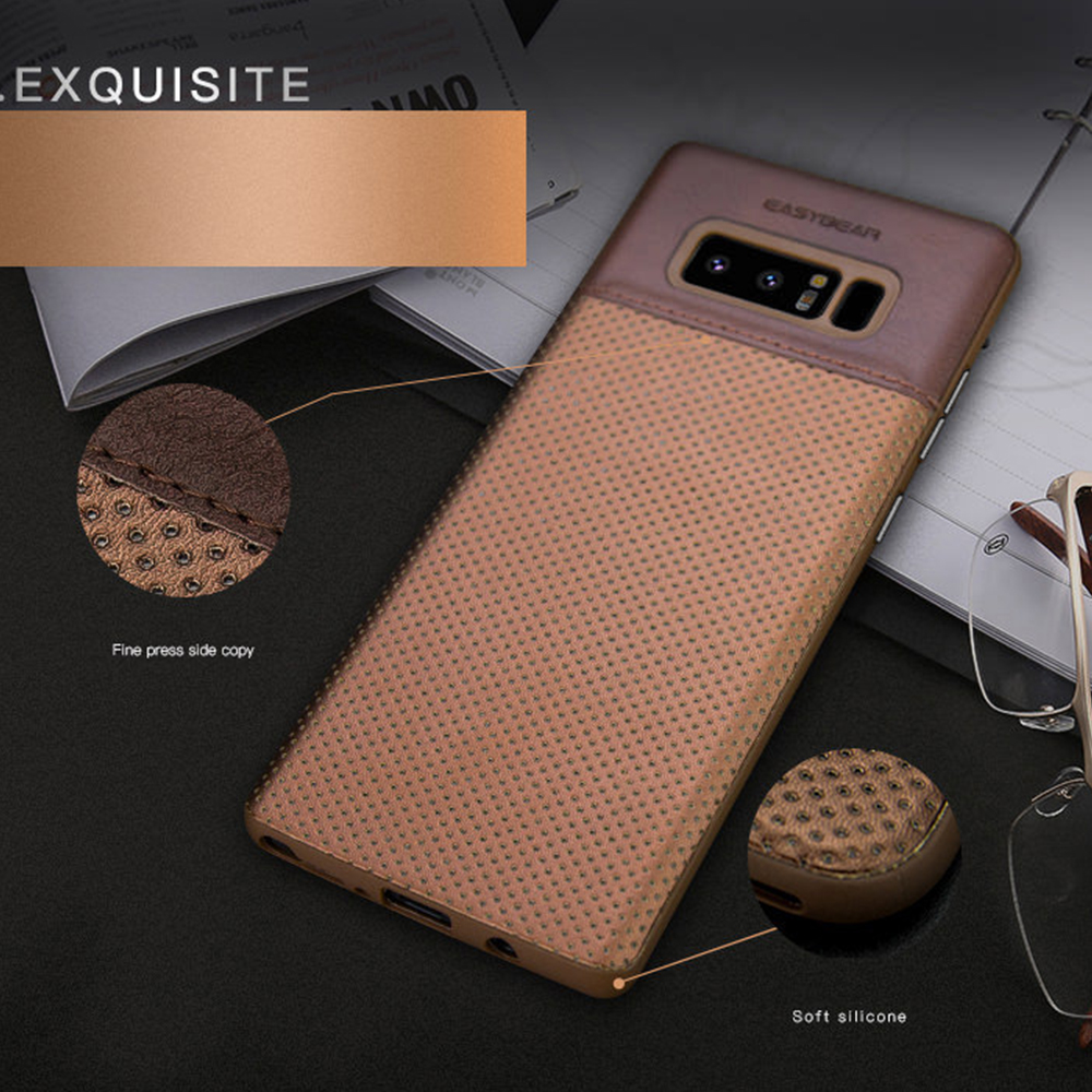 LAPOPNUT Luxury Slim Premium PU Leather Soft Phone Cases for Samsung <font><b>Galaxy</b></font> <font><b>S10e</b></font> S10 S9 S8 Plus Note8 Note9 Business Back Cover image