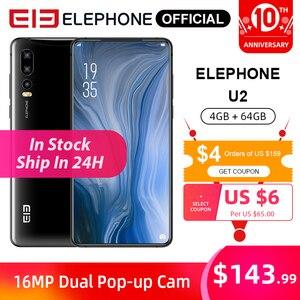 ELEPHONE U2 4GB 64GB MTK MT6771T Octa Core Cellphone 16MP Pop-up Cam 6.26
